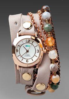 """La Mer """"Brazil"""" bracelet wrap watch.---WANT!!!"""