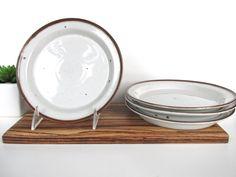 Set of 4 Danish Modern Dansk Brown Mist Bread And Butter Plates, Vintage Dansk Brown Mist Dessert Side Plates By Niels Refsgaard Denmark by HerVintageCrush on Etsy