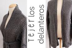 Aprende a #tejer una #chaqueta saco, abrigo, cardigan o suéter abierto en…