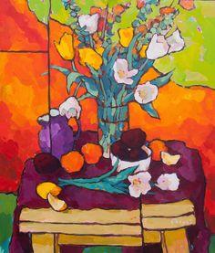 Oil Painting For Beginners Step By Step Art Aquarelle, Watercolor Art, Oil Painting Basics, Wilson Art, Art Basics, Expressive Art, Still Life Art, Contemporary Artwork, Abstract Flowers