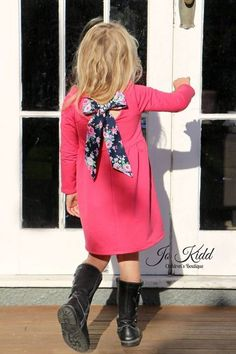 Adelyn's Scoop Back Top & Dress. PDF sewing pattern for toddler & girls sizes 2t-12. - Simple Life Company