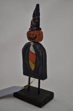 All Business Jack O'Lantern by folkhearts on Etsy, $22.00