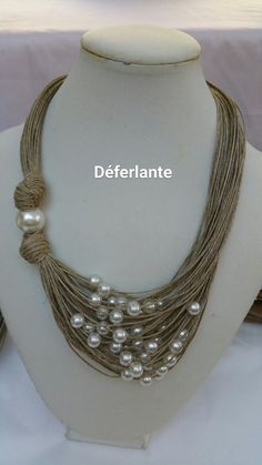Seed Bead Jewelry, Diy Jewelry, Beaded Jewelry, Jewelery, Handmade Jewelry, Beaded Bracelets, Jewelry Design, Jewelry Making, Fabric Necklace