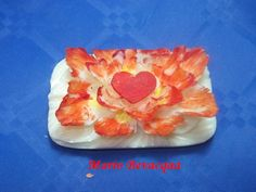 Valentine soap carving
