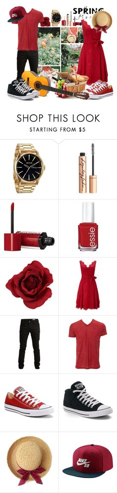 """""""50 Flourishing Picnic"""" by berry2206 on Polyvore featuring Nixon, Charlotte Tilbury, Bourjois, Essie, Phase Eight, SELECTED, Simplex Apparel, Converse und NIKE"""