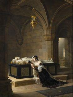 Marie-Philippe Coupin de la Couperie. Valentine de Milan pleurant la mort de son époux 1822