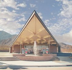 "Tramway Gas Station, Palm Springs, 1965 - Albert Frey. Frey was a prolific architect who established a style of modern architecture centered around Palm Springs, California that came to be known as ""desert modernism""."