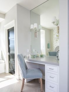 Built In Dressing Table, Wardrobe With Dressing Table, Dressing Table Design, Dressing Table In Bedroom, Bedroom Closet Design, Home Decor Bedroom, Room Decor, Master Bedroom, Condo Bedroom