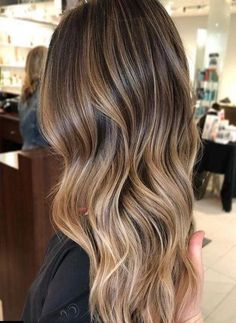 Long Wavy Ash-Brown Balayage - 20 Light Brown Hair Color Ideas for Your New Look - The Trending Hairstyle Brown Hair Balayage, Brown Ombre Hair, Brown Blonde Hair, Brown Hair With Highlights, Light Brown Hair, Ombre Hair Color, Hair Color Balayage, Grey Ombre, Balayage Brunette To Blonde