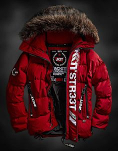 Mens Down Jackets Cool Jackets For Men, Work Jackets, Dope Outfits For Guys, Heated Jacket, Mens Down Jacket, Mens Winter Coat, Tactical Clothing, Cool Hoodies, Looks Style