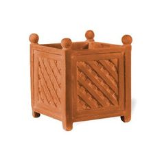 ResinStone Square Lattice Planter Size 26 H x 27 W x 27 D Color Terra Cotta Drain Hole Drain Hole -- Check out the image by visiting the link.