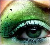 Green- would be great for my wicked witch costume this year!