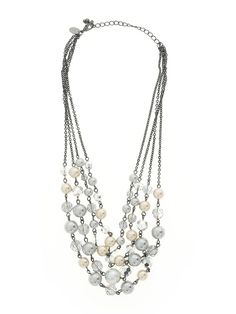 Lia Sophia Necklace: Size 0.00 Silver Women's Clothing - $24.99