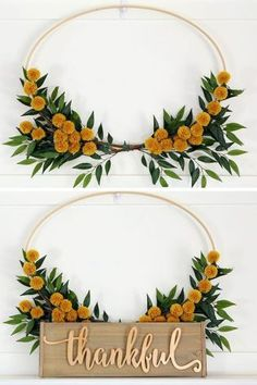 22 Fall Wreaths That'll Add Serious Autumn Flair to Your Door : Pom Pom Fall Wreath womansday Easy Fall Wreaths, Diy Fall Wreath, Fall Door Wreaths, Ribbon Wreaths, Yarn Wreaths, Winter Wreaths, Floral Wreaths, Burlap Wreaths, Spring Wreaths