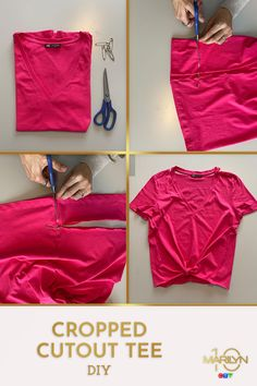 If you have some old t-shirts in your closet that you never wear, give them a trendy update with this quick DIY! Mom Birthday Crafts, 50th Birthday Quotes, 80th Birthday Gifts, Birthday Gift Baskets, Old T Shirts, Tee Shirts, Tees, Candy Bar Posters, Diy Clothing