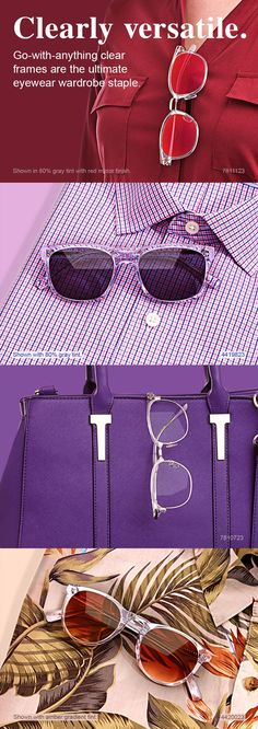 264f058879 Go-with-anything clear frames are the ultimate eyewear wardrobe staple.  Lentes,
