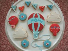 images of balloon cookies | Hot Air Balloon Cookies | Hot Air Balloon Party Inspiration