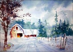 New Snow - Original painting.  Tom Jones