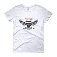 TEXAS STRONG COFFEE /Women's short sleeve t-shirt/ #tshirt #texas #strong #coffee #wings #mug # coffee cup Coffee Cups, Wings, Texas, Strong, Sleeve, Mens Tops, T Shirt, Fashion, Manga