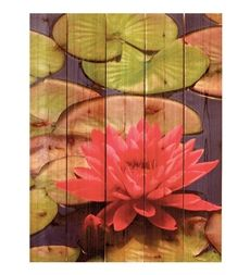 Handmade Pink Lotus Wall Hanging by Gizaun Art™