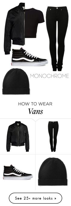 """Monochrome"" by brokenmechanicalhearts on Polyvore featuring MM6 Maison Margiela, Getting Back To Square One, Sans Souci, Vans and Madeleine Thompson"