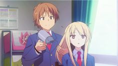 Sakurasou no Pet na Kanojo - Shiina and Sorata XD Otaku Anime, Manga Anime, Anime Art, Aot Gifs, Anime Gifs, Slice Of Life, Mashiro Shiina, Anime Motivational Posters, Anime Kawaii