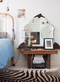 The Curated Quarters of a Prop Stylist (Design*Sponge) Home Bedroom, Bedroom Decor, Bedroom Mirrors, Master Bedrooms, Bedroom Ideas, Home And Deco, Cheap Home Decor, Home Decor Accessories, Home Fashion