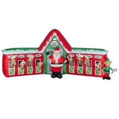Have the best Christmas display this year with a Gemmy Airblown inflatable! These inflatables come with a built in fan, lights, ropes & stakes. Christmas Yard Decorations, Halloween Decorations, Christmas Ornaments, Holiday Inflatables, Santa And Reindeer, Christmas 2015, Scene, Holidays