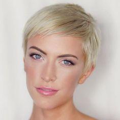 Short Blonde Pixie Haircut