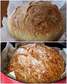 No Knead Bread, Food Inspiration, Food To Make, Food And Drink, Cooking Recipes, Sweets, Snacks, Breads, Kitchens