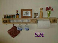 Shabby Chic Style, Shabby Look, Wood Pallets, Pallet Wood, Toilet Paper, Floating Shelves, Designer, House, Inspiration