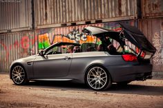 #BMW #E93 #M3 #Convertible #MatteMineralGrey #ThePowerCrew #Tuning #Sexy #Hot #Freedom #Touch #Sky #Cloud #FeelWind #Provocative #Badass #Live #Life #Love #Follow #Your #Heart #BMWLife