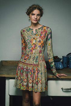 Pintucked Prima Dress - anthropologie.com