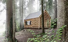 Forest Cabin by Bernd Riegger Offers Sanctuary in the Wild - See more at: http://www.thecoolist.com/forest-cabin-by-bernd-riegger/#sthash.Q8BfIxoO.dpuf