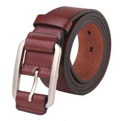 Designer Men Leather Belt Pin Buckle Casual Waistband Waist Strap Trouser Belts - NewChic