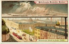Utopia - city in 2000, postcard (1900)