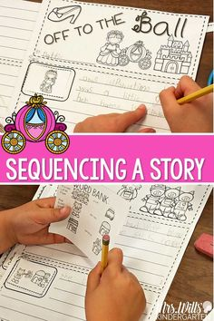 Students will sequence story graphics then write a story to accompany it. Each has 4 story scenes that can be put in order.  This unit includes: 8 stories at 2 different levels Color pocket chart cards 4 story scenes that can be put in order word banks I