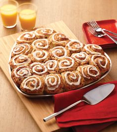 Heart Cinnamon Rolls For Valentines Day