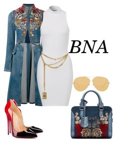 """BNA"" by deborahsauveur ❤ liked on Polyvore featuring Alexander McQueen, Christian Louboutin, Moschino and Linda Farrow"