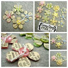 mini dictionary flowers
