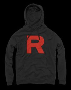 Team Rocket Hoodie This is a high quality hoodie made from 50% Cotton & 50% polyester. These hoodies are preshrunk.