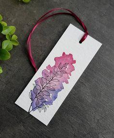 Watercolor Paintings For Beginners, Watercolor Art Lessons, Watercolor And Ink, Watercolor Art Paintings, Creative Bookmarks, Diy Bookmarks, Homemade Bookmarks, Doodle Art For Beginners, Bookmark Craft