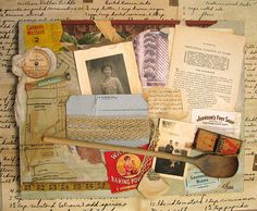 A vintage recipe background and kitchen embellishments give this cooking themed page great style.