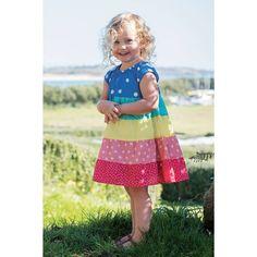 8dc00b1857 Frugi Organic Dorothy Twirly Dress - Rainbow Hotchpotch. Baby goes Retro