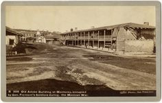 May 13, 1846: The United States declares war on Mexico.  Old Adobe Building at Monterey, occupied by General Fremont's Soldiers during the Mexican War; photograph by Taber Photographic Parlors, San Francisco.  NYHS Image #80717d.