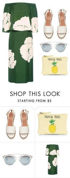 """tropical"" by liz-shestopal on Polyvore featuring New Look, Christian Dior and TIBI"