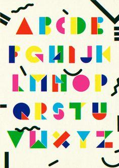 TET typeface by Josh McKenna (jshmck), via Behance