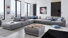 Sofa Y Sillones Design. Modern Furniture Sofa Set Leather Sectional Sofa Home . Home and Family Living Room Sofa Design, Living Room Grey, Living Room Modern, Interior Design Living Room, Living Room Furniture, Living Room Designs, Living Room Decor, Luxury Sofa, Lounge Areas