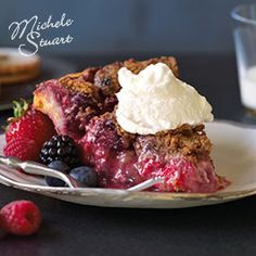 Michele Stuart's Mixed Berry Crumb Pie from Crisco®