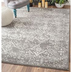 found it at wayfair vintage mabelle silver area rug